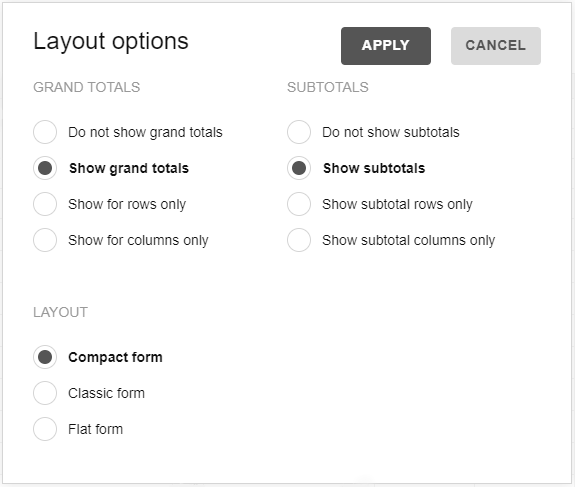 Options Object | WebDataRocks