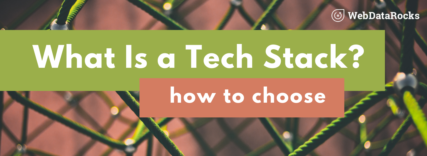 How to choose the needed tech stack for web application development